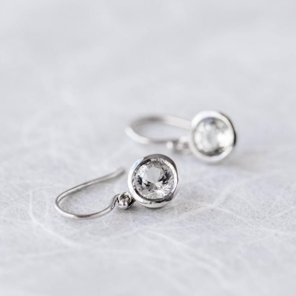 Furneaux Collection Luna Earrings White Gold