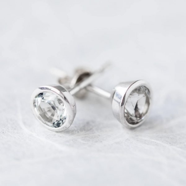 Furneaux Collection Stella Studs White Gold